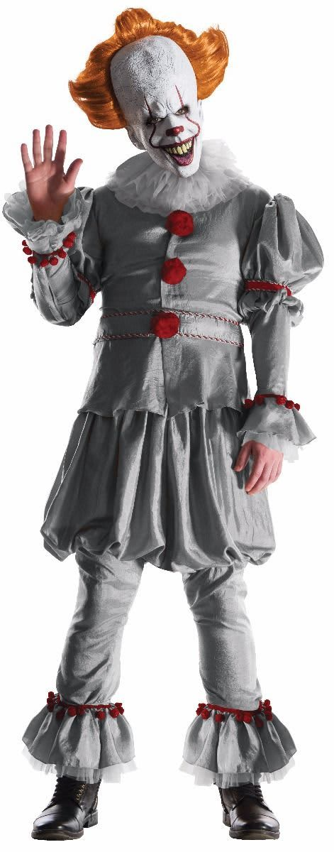 Rubie's Costume Company IT Pennywise Adult's Deluxe Costume, One Size