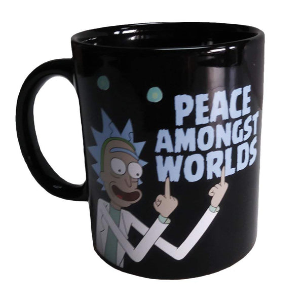 "Surreal Entertainment Rick and Morty ""Peace Amongst Worlds"" Coffee Mug"