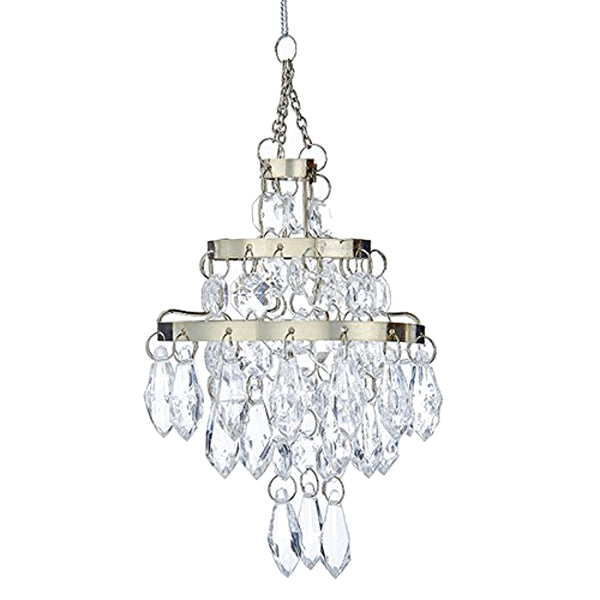 Kurt Adler Acrylic Chandelier Hanging Tree Ornament