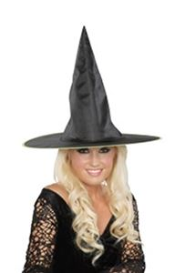 Classic Witch Hat With Black Tinsel , One Size Costume Accessory