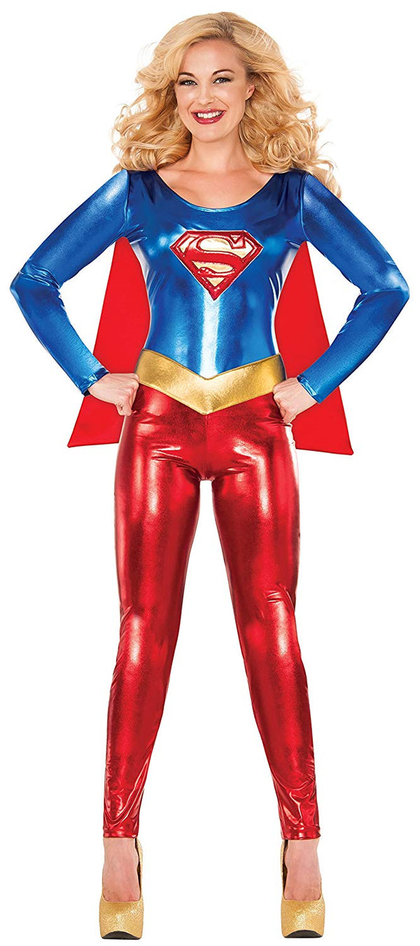 Delicious of NY DC Comics Supergirl Women's Catsuit Costume