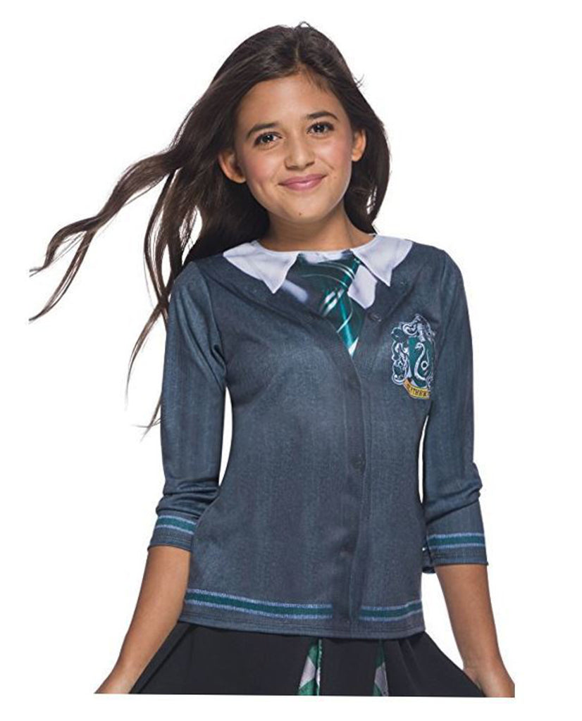 Harry Potter Slytherin Uniform Realistic Print Children's Costume Top