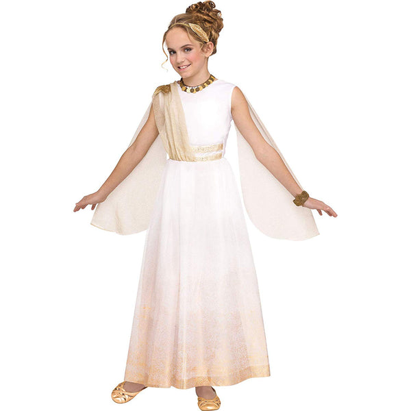 Fun World Golden Goddess Girls' Greco-Roman Party Costume