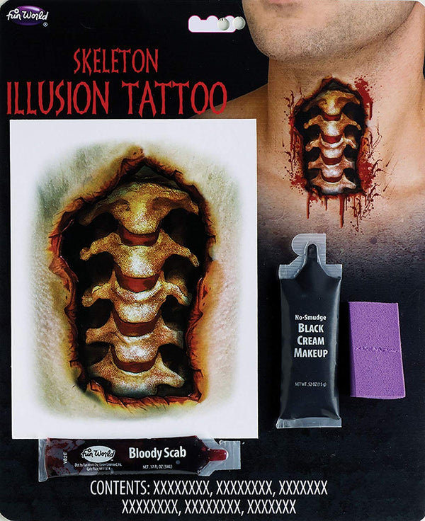 Fun World Illusion Tattoo Costume Makeup