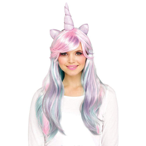 Fun World Unicorn Adult's Character Wig, One Size