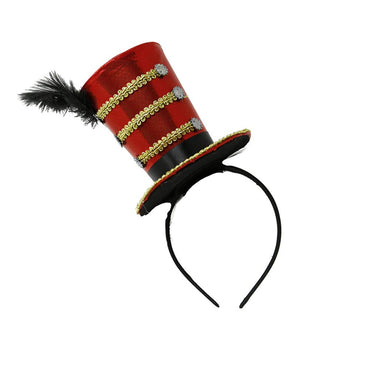 Jacobson Hat Company Mini Circus Ringmaster Fascinator Hat Headband, One Size