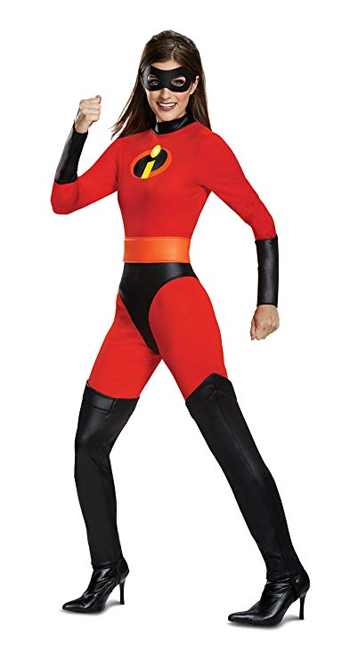 Disguise Women's Mrs. Incredible Classic Adult Costume, Red, L (12-14)