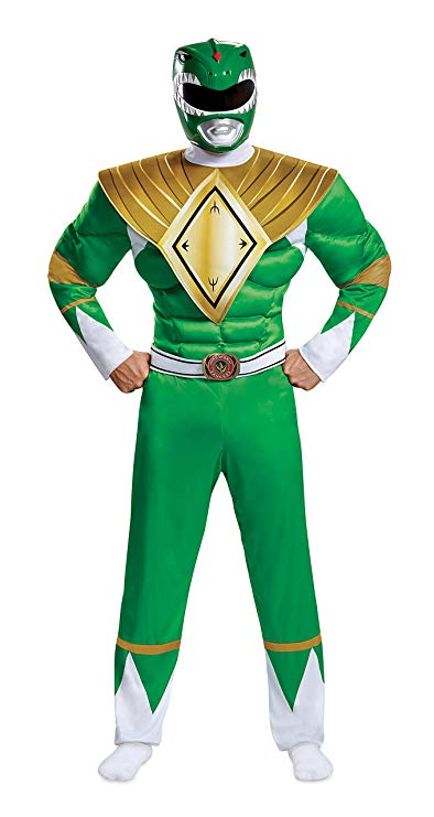 Disguise Men's Green Ranger Classic Muscle Adult Costume, L/XL (42-46)