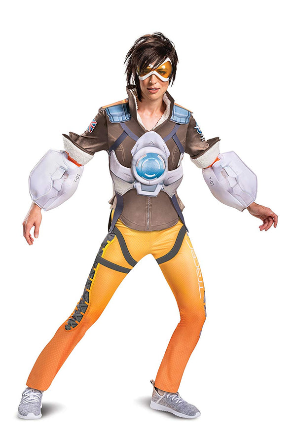 Disguise Ince Overwatch Tracer Junior's Party Costume