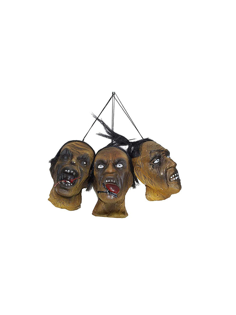 Morbid Enterprises Shrunken Head Halloween Hanging Decor Set, 3 pieces
