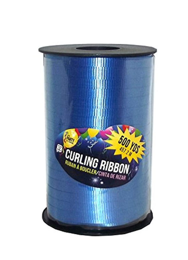 Forum Novelties Curling Gift Ribbon, 500 Yard Spool (Royal Blue)