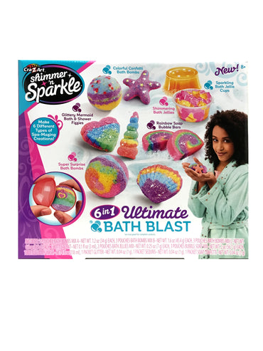 Cra-Z-Art Shimmer 'N Sparkle 6-in-1 Ultimate Bath Blast