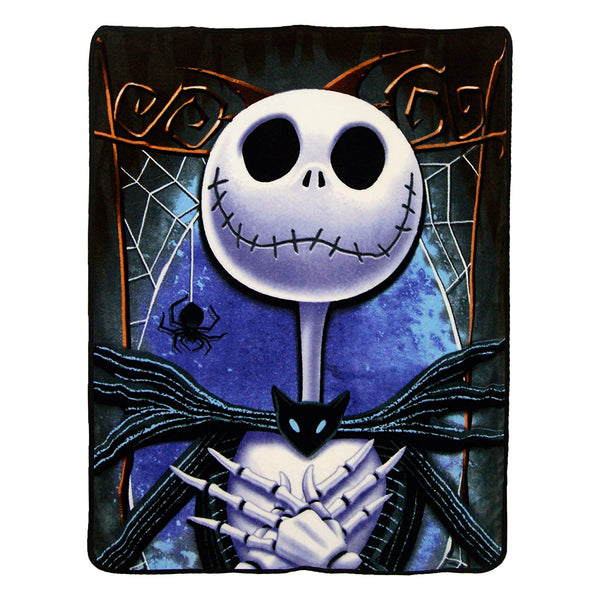 Disney The Nightmare Before Christmas 25th Anniversary Jack Skellington Super Plush Throw Blanket
