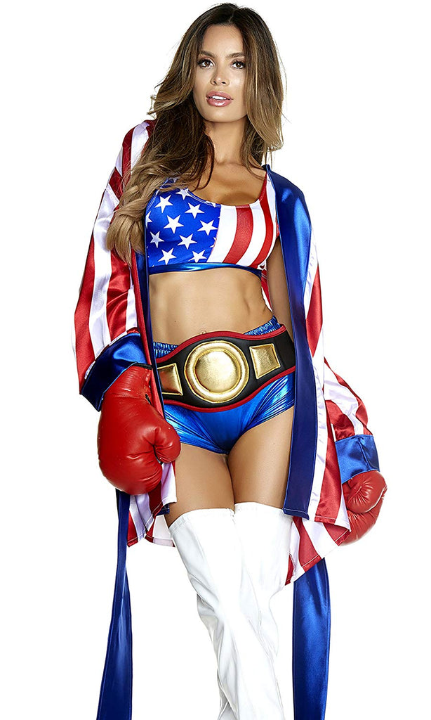 Forplay Costumes Get 'Em Champ! Patriotic Boxer Women's Costume