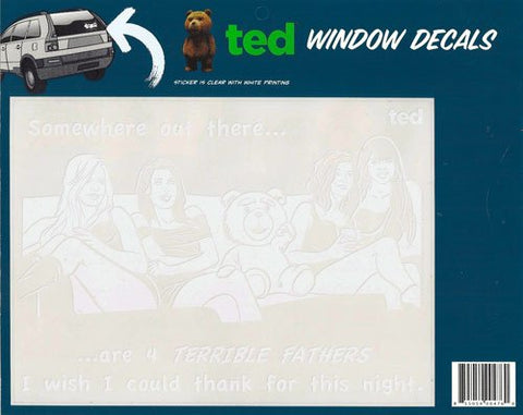 Ted the Movie Ted with Girls Family Car Window Sticker Decal