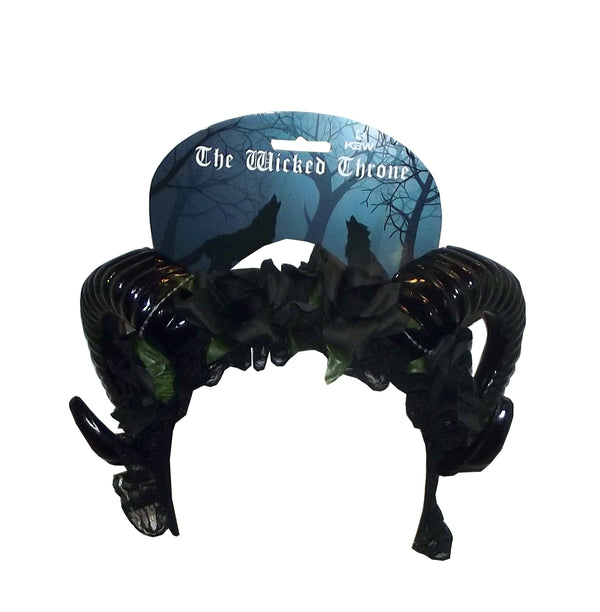 KBW The Wicked Throne Black Horns Costume Headband, One Size
