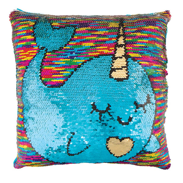 "Fashion Angels Magic Sequin Narwol Pillow-11.5"" x 11.5"""