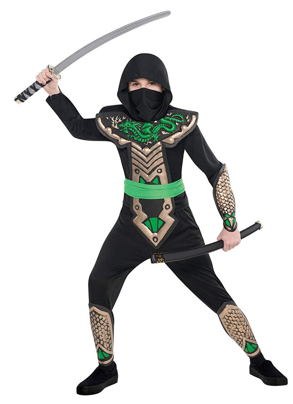 Amscan CostumesUSA Dragon Slayer Ninja Children's Ninja Costume