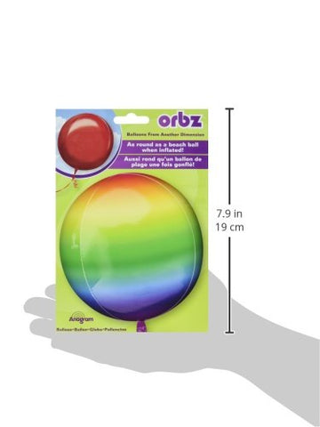 "Anagram International Rainbow Orbz Balloon Pack, 16"", Multicolor"