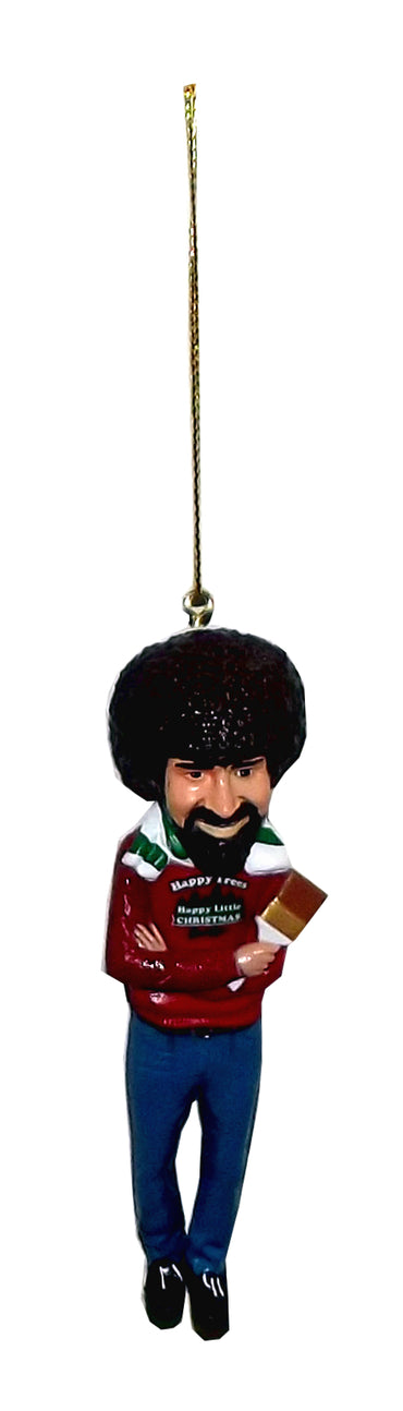 Kurt Adler Bob Ross Hanging Tree Ornament, 4.5 inches