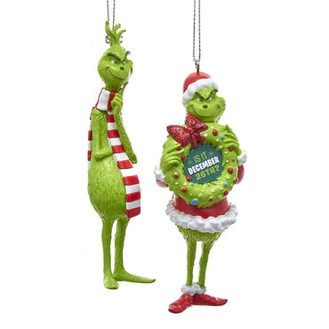 Kurt Adler How the Grinch Stole Christmas 4.5 inch Grinch Tree Ornament, Assorted, 1 count