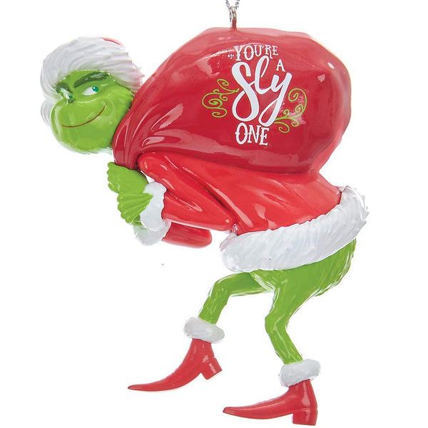 Kurt Adler How the Grinch Stole Christmas Grinch Tree Ornament, 3.25 inches, 1 count