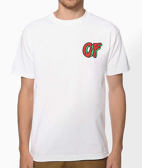 Odd Future OF Watermelon Donut Mens White T-Shirt