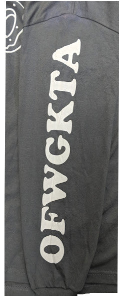 Odd Future Donut OFWGKTA Mens Solid Grey Long Sleeve