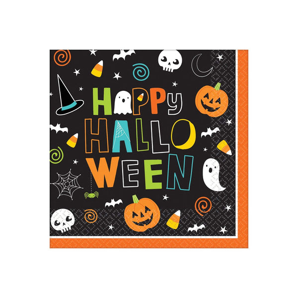 Amscan Halloween Big Party Pack Lunch Size Napkins, 125 count