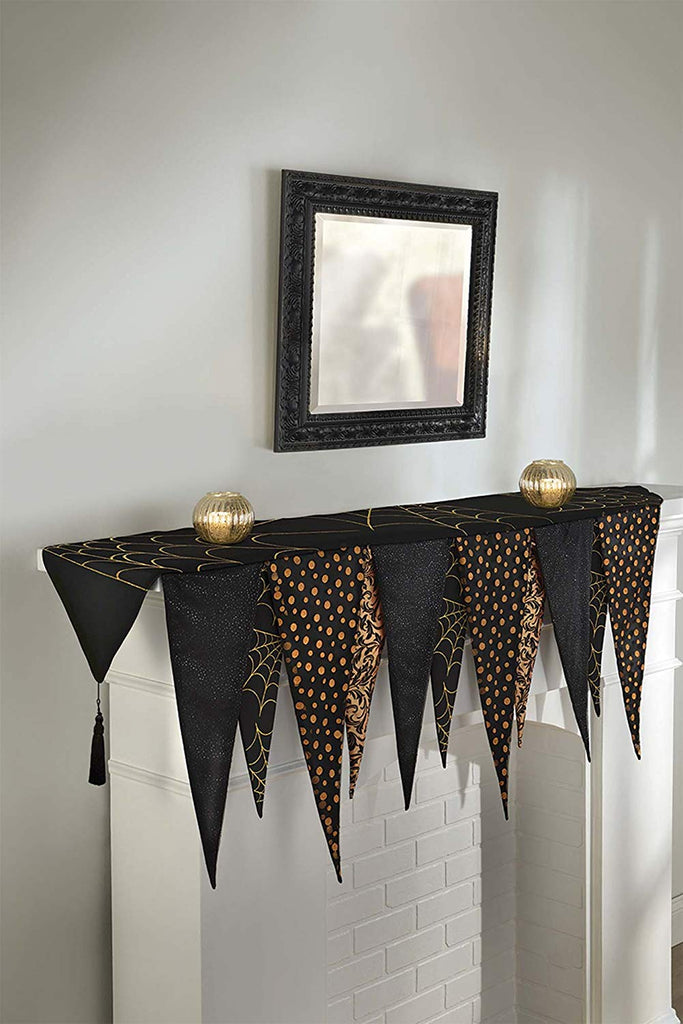 Amscan Halloween Pennant Style Mantle Scarf