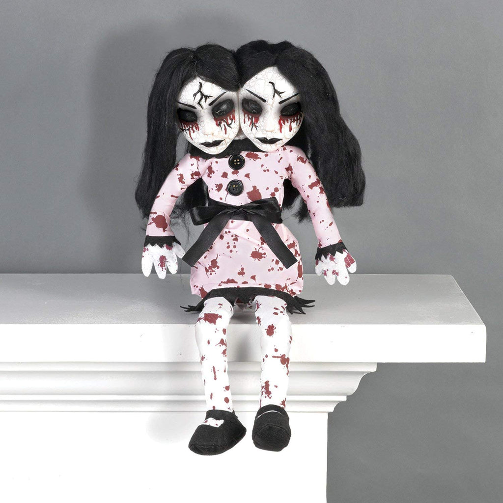 Amscan Creepy Double-Headed Girl Shelf Sitter Halloween Decoration