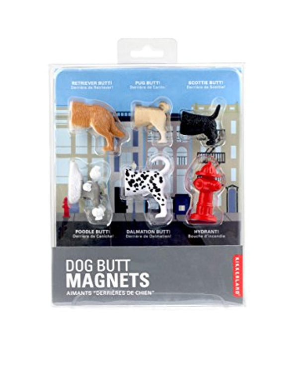 Kikkerland Dog Butts Animal Magnets, Set of 6 (MG17)