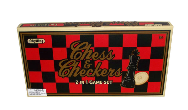 Schylling Chess & Checkers Classic 2 in 1 Game Set