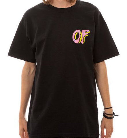 Odd Future Donut Front & Back Logo Tee Mens Black T-Shirt