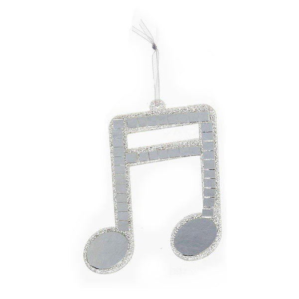 Kurt S. Adler Silver Mirror Musical Note Ornament-Beam Note