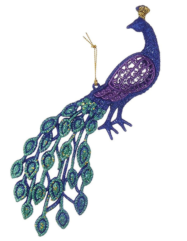 Peacock Ornament, Colors Vary
