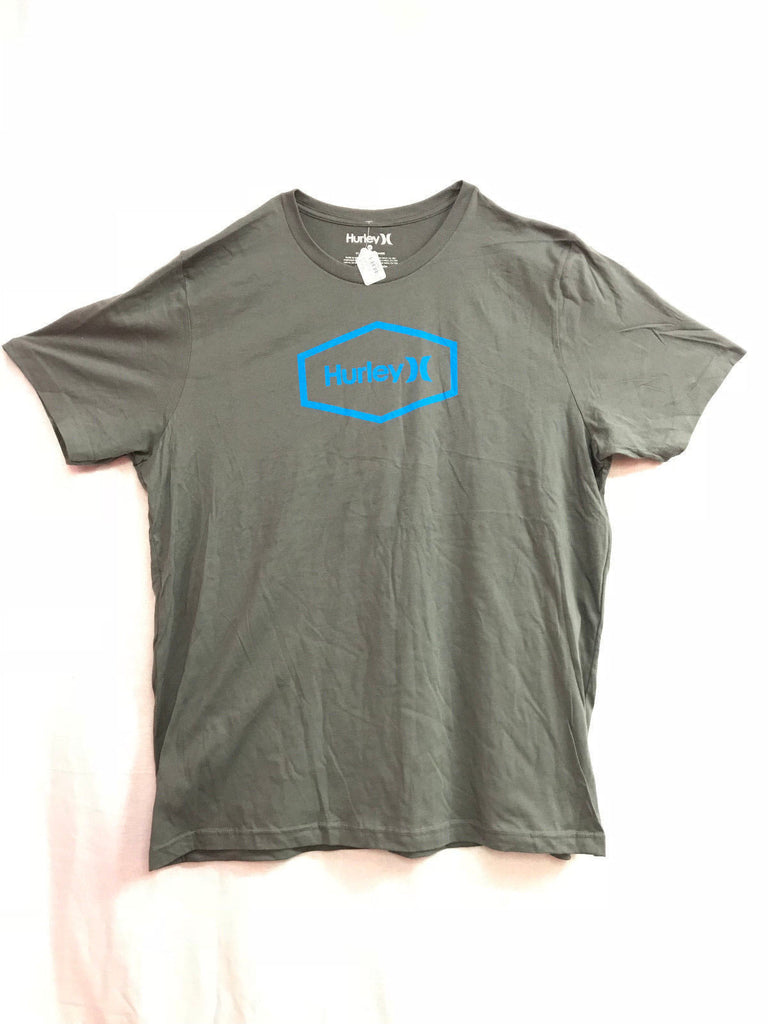 Hurley Blue Logo Dark Grey Shirt Men's T-Shirt