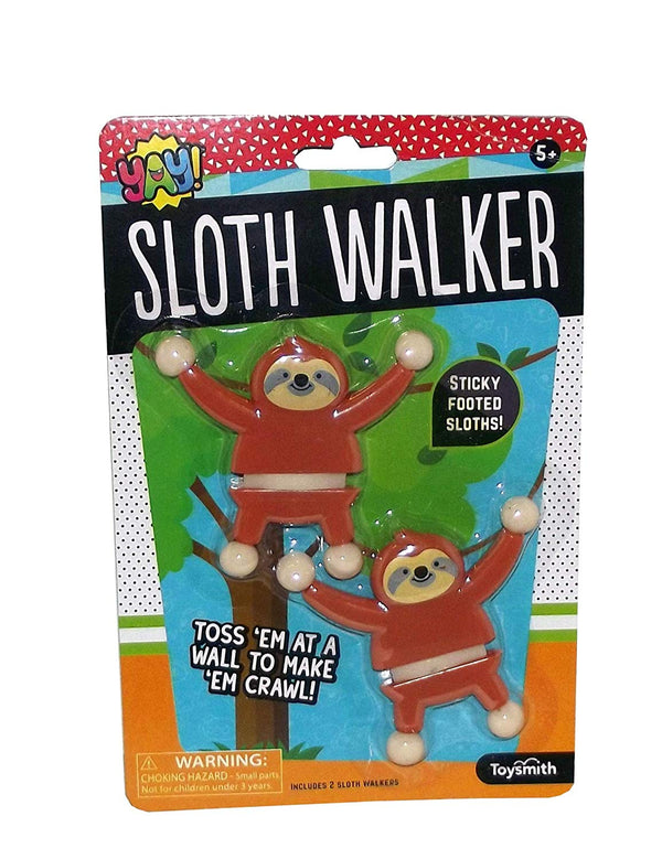 Toysmith Yay! Sloth Wall Walker Toy Set, 2 Pieces