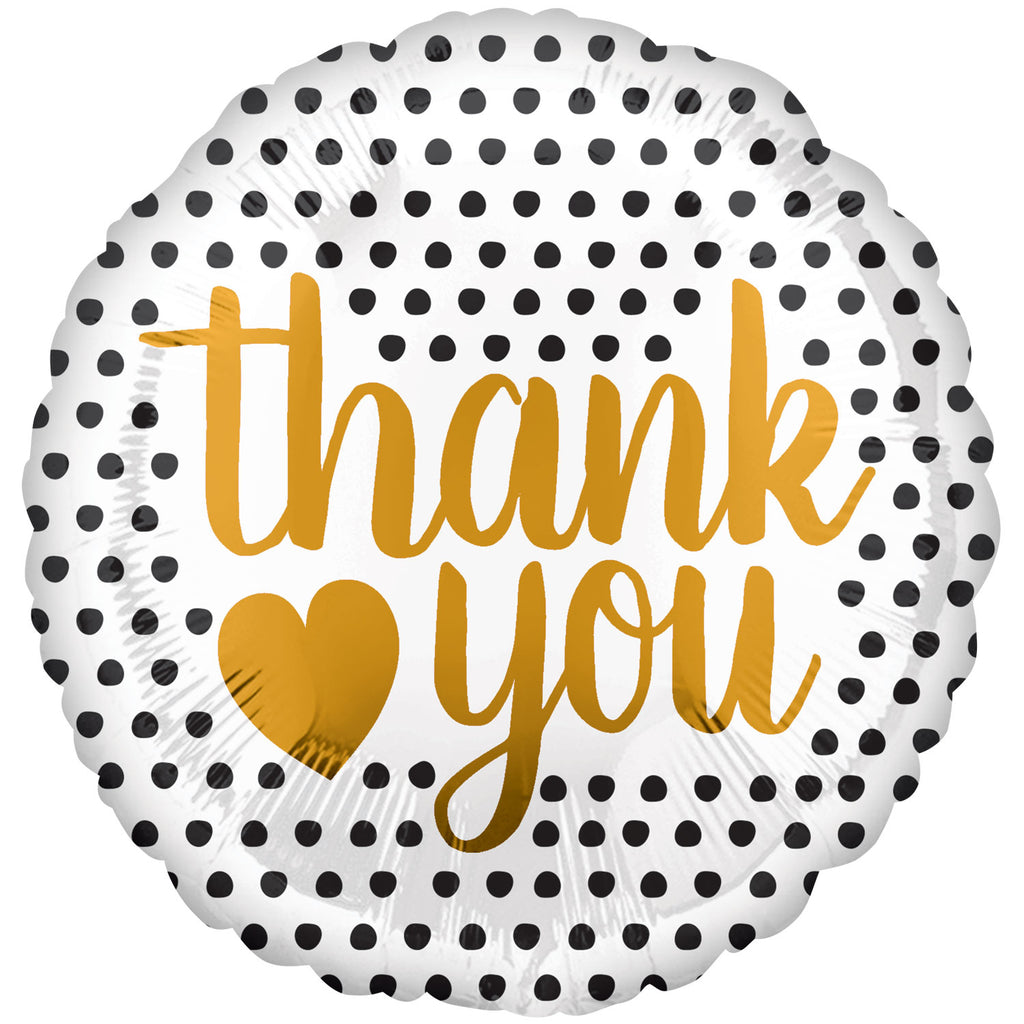 18inch Thank You Modern Dots Foil Balloon