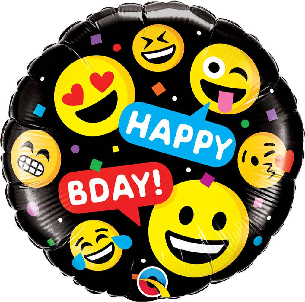 18inch Smileys Happy Birthday Balloon