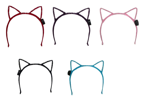 Barry Owen Furry Light Up Cat Ear Headband, Assorted, One Size