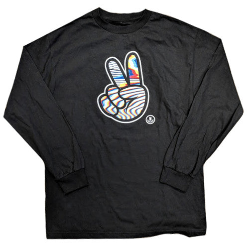 Neff Peace Sign Mens Black Long Sleeve