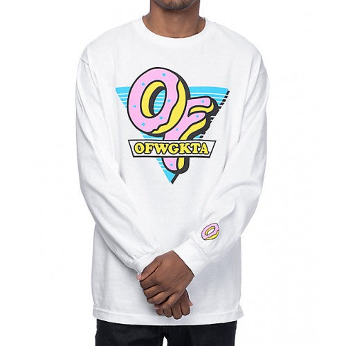 Odd Future OFWGKTA Triangle White Long Sleeve T-Shirt
