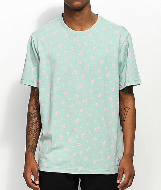 Odd Future Allover Donut Teal & Pink T-Shirt