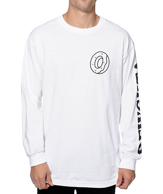 Odd Future Donut OFWGKTA Mens White Long Sleeve T-Shirt