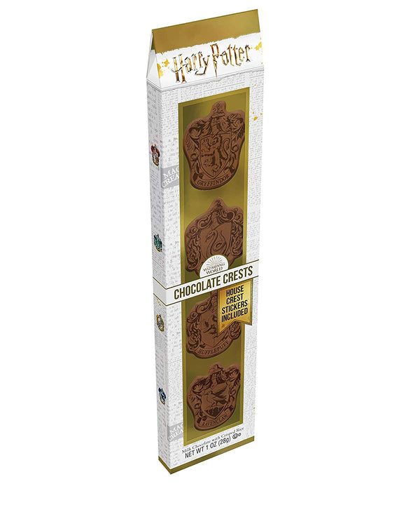 Harry Potter Wizarding World Milk Chocolate Hogwarts House Crests Set, 1 ounce
