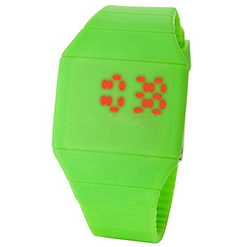 LED TOUCH WATCH, ASSORTED, COLORS VARY