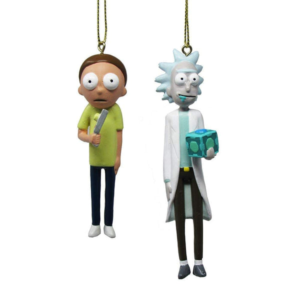 Kurt Adler Adult Swim Rick and Morty Hanging Tree Ornament, 4 inches