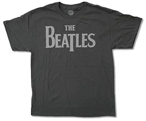 "Adult The Beatles ""Logo on Grey"" T-Shirt"