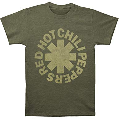 Red Hot Chili Peppers Men's Tonal Asterisk Army Green Slim Fit T-shirt Heather Army
